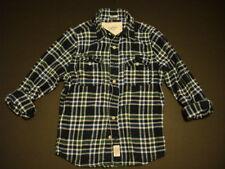 New Abercrombie Mens Thick Flannal Shirt Botton Down Blue Plaid  Size L $120
