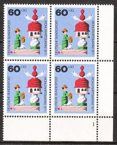 BRD 1971 Mi. Nr. 708 4er Postfrisch Eckrand 4 Formnummer 1 LUXUS!!! (6911)