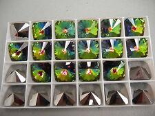 4 discontinued swarovski square rivoli stones,18mm vitrail medium