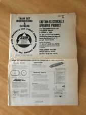 Vintage AHM Train Set Instructions & Catalog  CA-18F  1976 Collectible