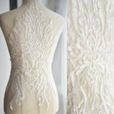 Water Soluble Ivory White Embroidery French Lace Mesh Fabric  DIY Dress Designs