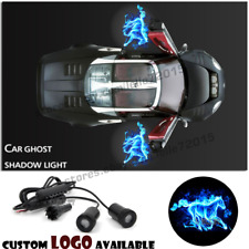 Blue Fire Horse Logo Car Door LED Light Ghost Shadow Projection Laser Courtesy