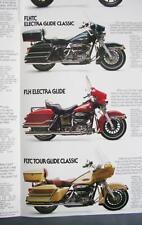 Original 1984 Harley-Davidson Motorcycle Dealer Sales Brochure/Poster 13 Models