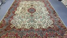 Semi Antique Handmade Kirman Wool Area Rug 8.8 X 12.2