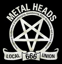 METALHEADS UNION Local 666 PENTAGRAM SHIRT MED New heavy metal brotherhood OOP