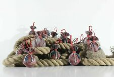Vintage HANDMADE Balls Christmas Tree Hanging Ornaments Decoration Set 16