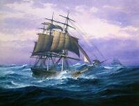 Best gift Ship Sailing Oil painting Art wall Decor Picture Printed on canvas HY1