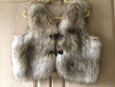 PER UNA -  Brown/Beige Fur Gilet/Waistcoat/Bodywarmer - Size 10