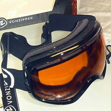 Von Zipper Skylab Snow Goggles-Blackout Black Frame/Amber Lens -Ski Winter - NEW
