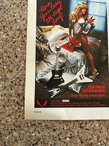 1982 VINTAGE 5X8 PRINT Ad FOR THE DEAN BABY GUITAR SEXY GIRL IN LINGERIE ON BED