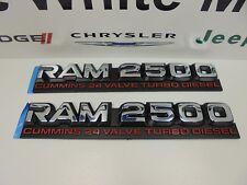 "98-02 Dodge New ""Ram 2500 Cummins 24 Valve Turbo Diesel"" Emblem Set of 2 Mopar"