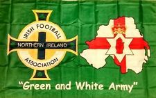 Northern Ireland Green and White Army Flag ulster Norn Iron 5ft x 3ft winsdor