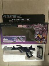 transformers g1 vintage 1985 shockwave in repro box semi working electronics