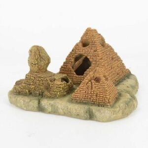Aquarium Pyramid Sphinx Decorations Cave Egyptian Stone Fish Tank Ornament