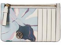Tory Burch Robinson Card Case Slim Printed Leather Wallet ~NWT~ Desert Bloom