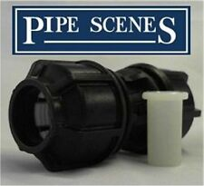"Black Water Pipe to Blue Water Pipe Joiner Adapter 1/2"" 20mm Metric to Imperial"