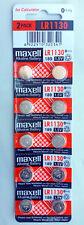 10x Maxell LR1130, 189, AG10 Alkaline Battery 0% Hg Expire 12-2020 Post from MEL