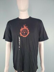 Under Armour Project Rock Mens Train Hard Tee Shirt Size Medium / Black 1351587