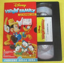 VHS film VIDEO FAMILY LA NUMERO UNO topolino CORRIERE DELLA SERA (F107) no dvd