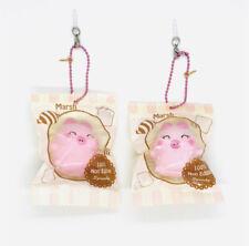 Creamiicandy Puni Maru Squishy Mini Marshmellii Marshmelli Closed Eyes Pig NEW