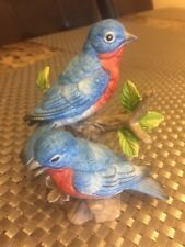 """Homco  Blue Birds on Branch Figurine # 1400 Excellent 4"""""""