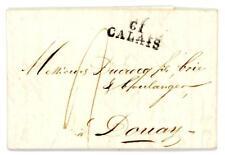 1822 France cover from Calais to Douai