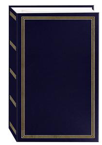 Photo Album BLUE 500 Pockets Slip In Photos  4 x 6 Memory Family Wedding Vintage