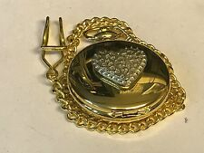 Love Heart TG160 Pewter on a Gold Pocket Watch Quartz fob