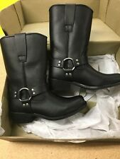 Bilt Womens Black Leather Motorcycle Moto Boots Size 7