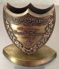 More details for dom perignon champagne bronze shield menu holder rare used vgc