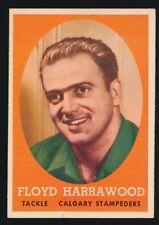 1958 Topps (CFL) -#85 FLOYD HARRAWOOD (Calgary Stampeders) Topps 1st CFL set