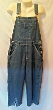 A.M.I COVERALLS / OVER ALLS  BLUE DENIM  DECORATED CUFFS SIZE L