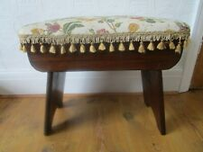 Vintage Upholstered Footstool