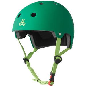 Triple 8 Protection EPS Brainsaver Skate/BMX Helmet, Green, Size Large/XLarge