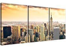 EXTRA Large New York skyline tela immagini 3 pannello per la vostra camera da letto
