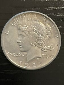 1921 P Peace Silver Dollar - VAM-1 - High Relief With Toning