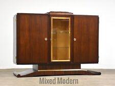Art Deco Mahogany any Brass Sideboard Credenza