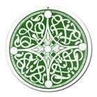 Fenster Glas Bild Nr. 51. Mandala 3. grün Ø 10cm Licht Fänger keltisches Symbol