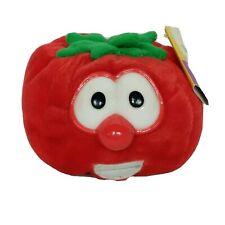 "NWT Veggie Tales Bob The Tomato Vegetable Red Plush Stuffed Animal 4"""