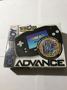 Game Boy Advance Jet Black In Box - Includes Pokémon Crystal - NEVER OPENED