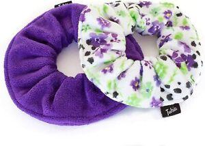 Tulsie Microfiber Scrunchies for Hair, Towel Material, Pack Of Two (2)