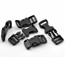 5cm Curved Black Plastic Buckles Buckle Side Release For 20mm Webbing ML
