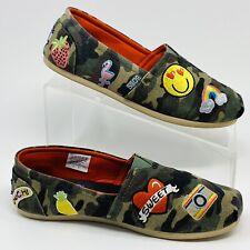 BOBS Skechers Camo Patches Slip On Shoes Slides Flats Women's Sz 7.5 EUC