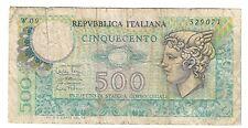 500 lire  mercurio W09 1974 rara taglio profondo LOTTO 706