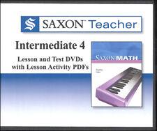 Saxon Math Teacher Intermediate 4 Lesson & Test Dvds / Cd-Roms New!
