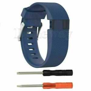 Silicone Wristband Strap Replacement Watch Band For Fitbit Charge HR Tracker AUP