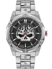 Harley Davidson Men's Flaming Willie G Skull Watch 76A164