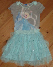 Disney Frozen Anna Elsa blue sparkle tutu dress 10 12