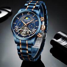 Luxury Blue Mechanical Stainless Steel 2020 Tourbillon Men's Watches Top Brand