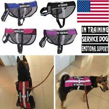 Pet Service Dog Harness Vest Reflective Training Emotional Coat Collar & 2Patch